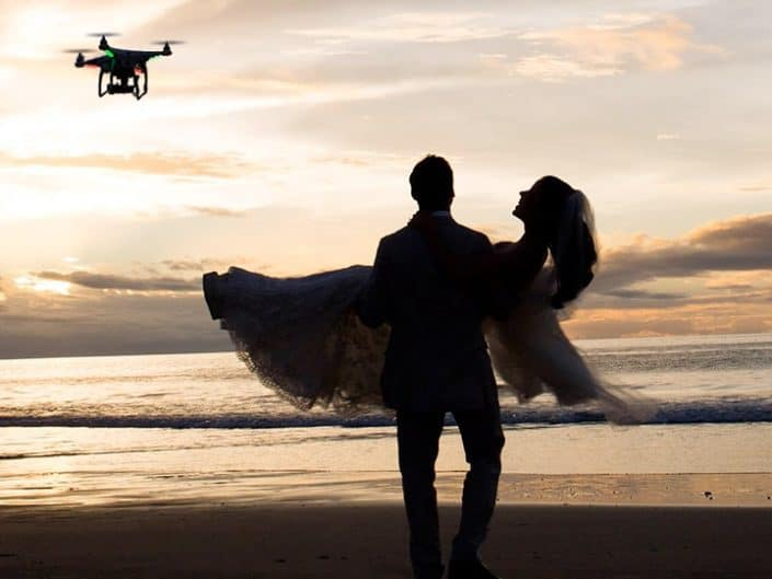 Drone Wedding Photography Gallery Beach With Drone