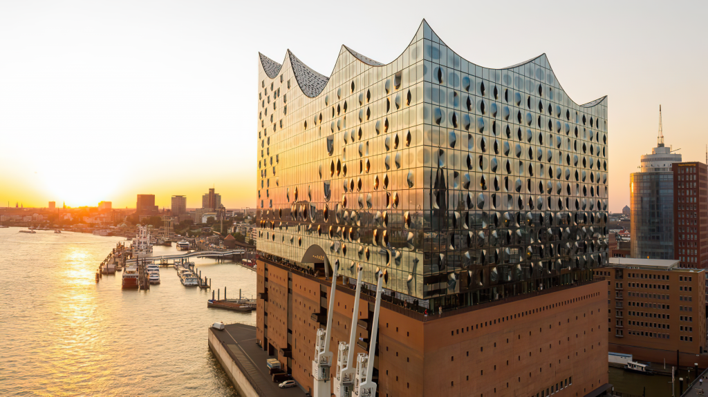 Aerial Photograph of Elbphilharmonie Concert Hall In Hamburg