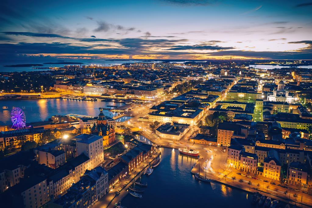 Aerial Photography Helsinki Port