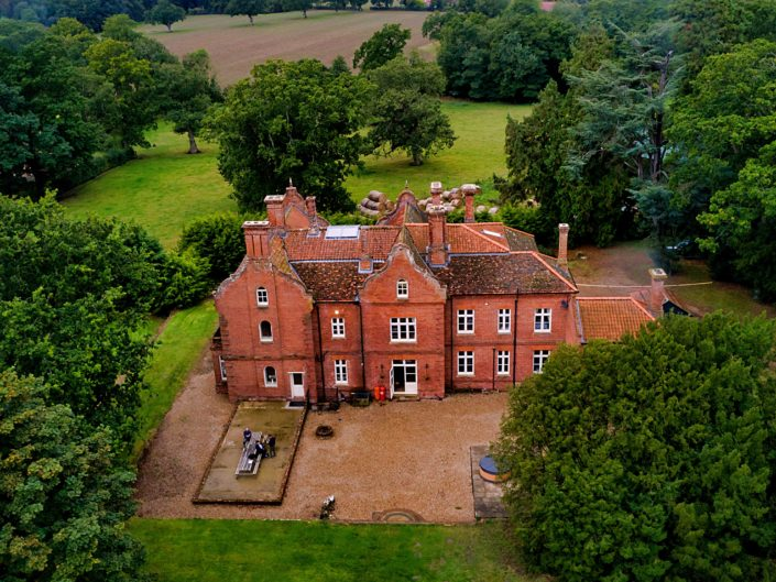Bessingham Manor-North Norfolk-Drone-Imagery-Wedding