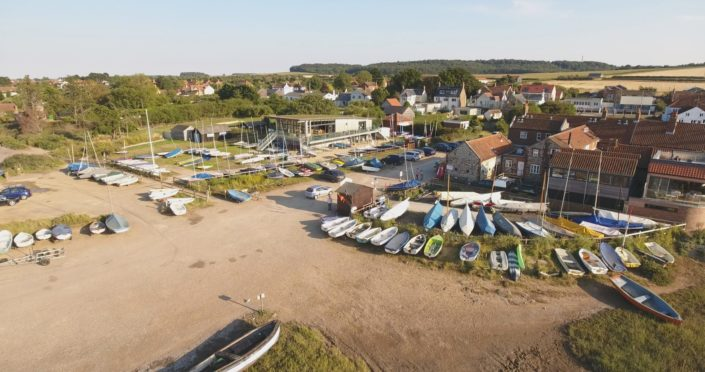 Brancaster Staithe Norfolk harbour norfolk drone imagery