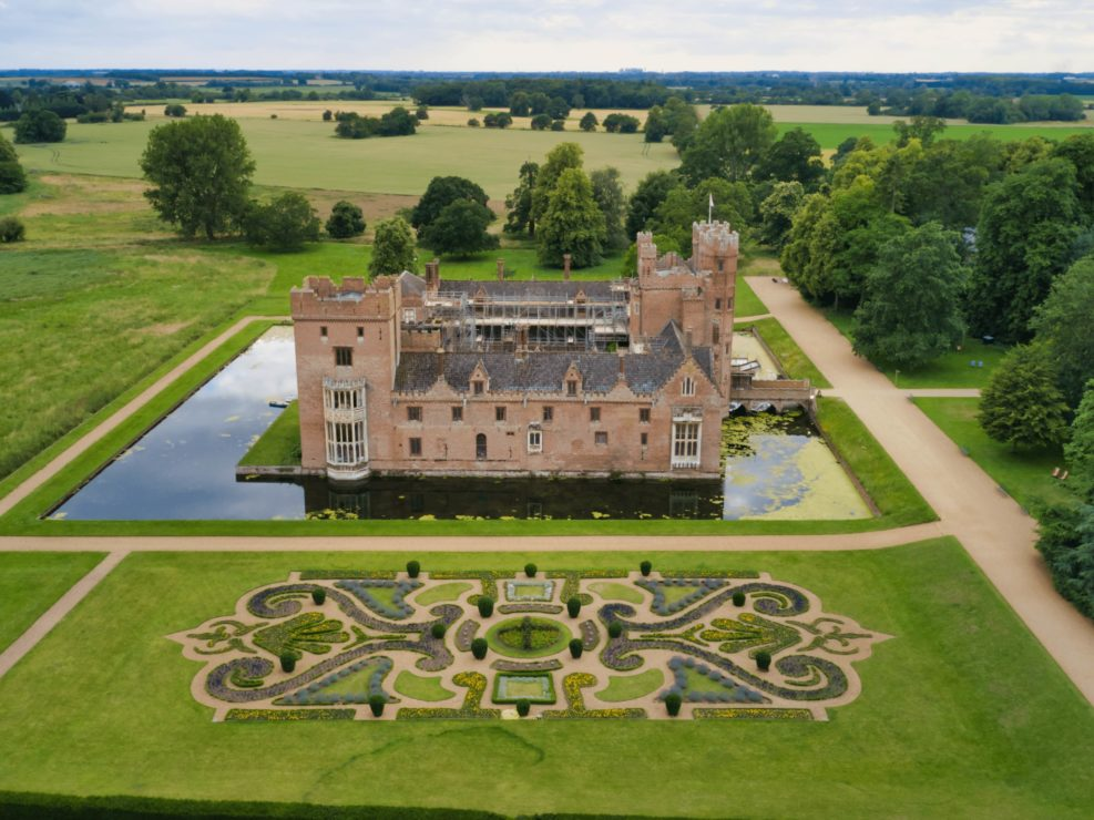 Oxborough Hall Norfolk Wedding Drone Imagery