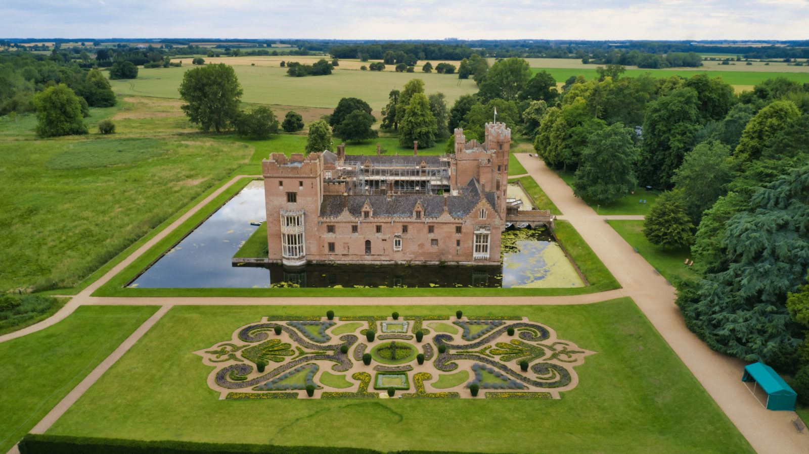 Oxborough Hall Norfolk Wedding Drone Imagery