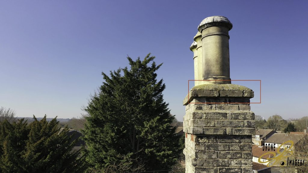 Roof Inspection Case Study Thomas Paine Hotel Cracked Chimney Stack