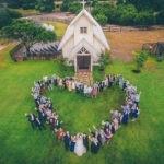 Wedding drone photography _ love heart wedding-dress-drone wedding photography