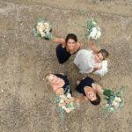 Aerial Wedding Photography - Bride On The Beach